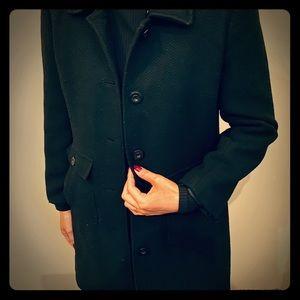 Like new clean black wool coat...